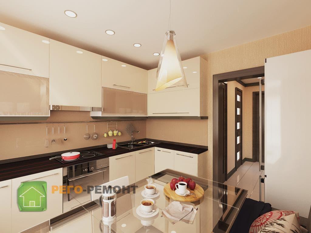 Заказать ремонт кухни под ключ с материалом и мебелью